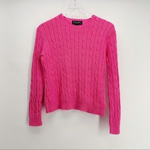 COPY - Brooks Brothers Pink Cable Knit Sweater Si…